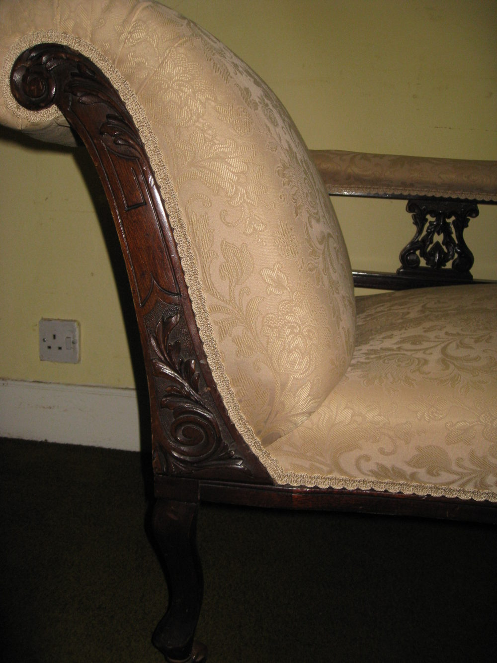 Mahogany chaise longue antiques atlas for Antique chaise longue for sale uk