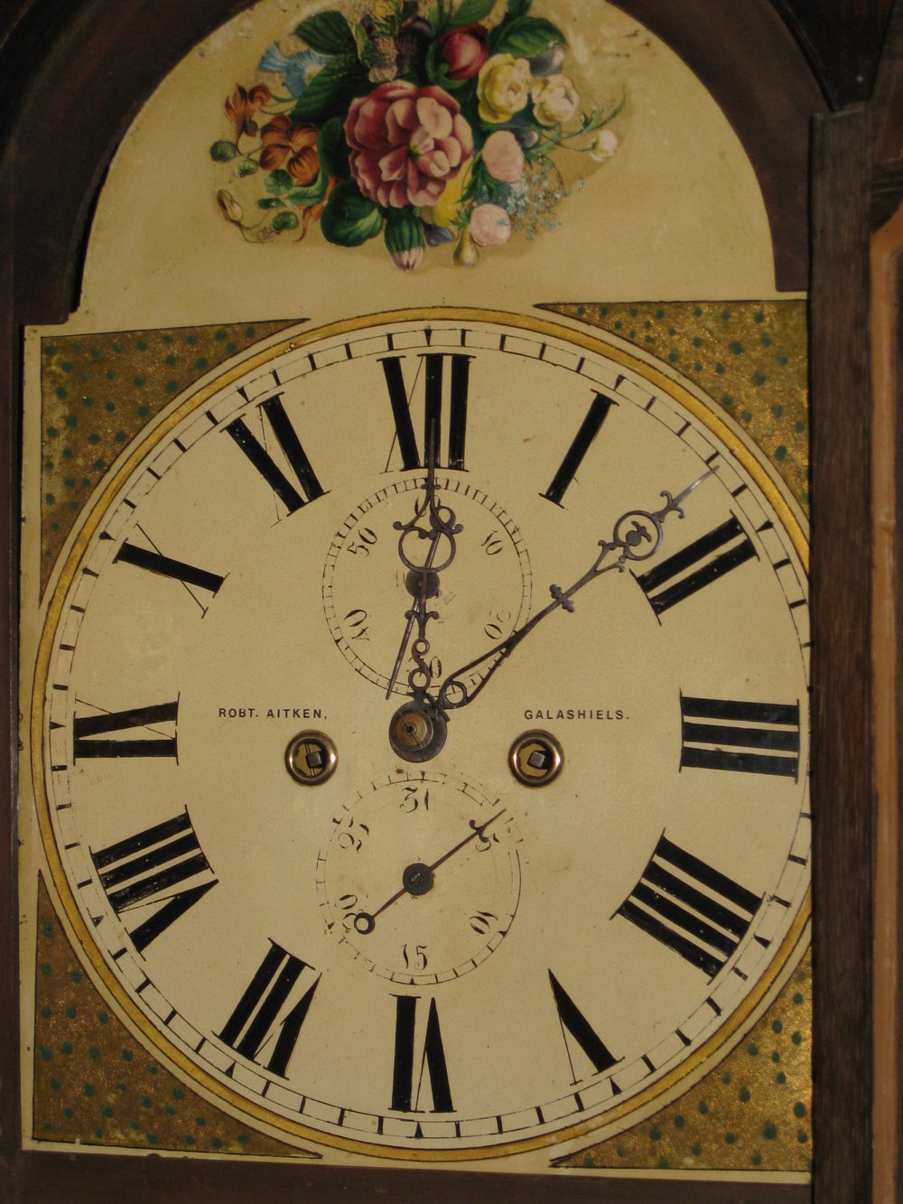 Antiques Atlas Oak Painted Face Grandfather Clock
