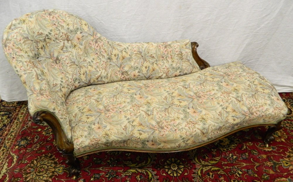 Victorian chaise longue antiques atlas for Antique edwardian chaise longue
