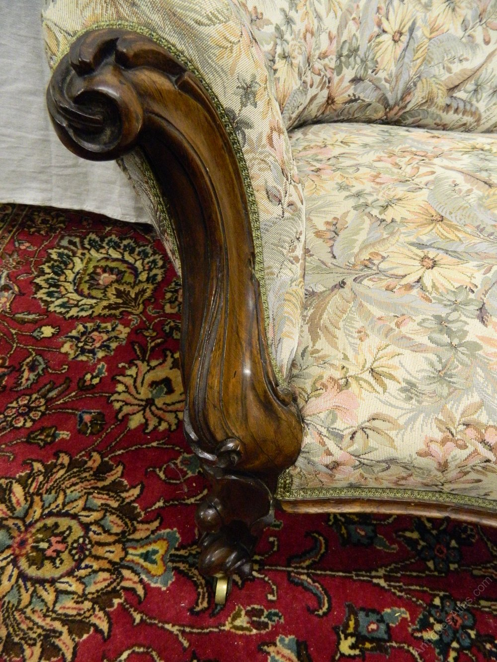Victorian chaise longue antiques atlas for Antique victorian chaise