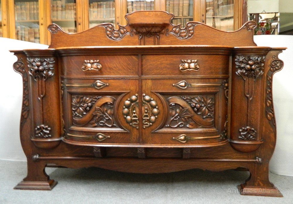 art nouveau sideboard antiques atlas. Black Bedroom Furniture Sets. Home Design Ideas