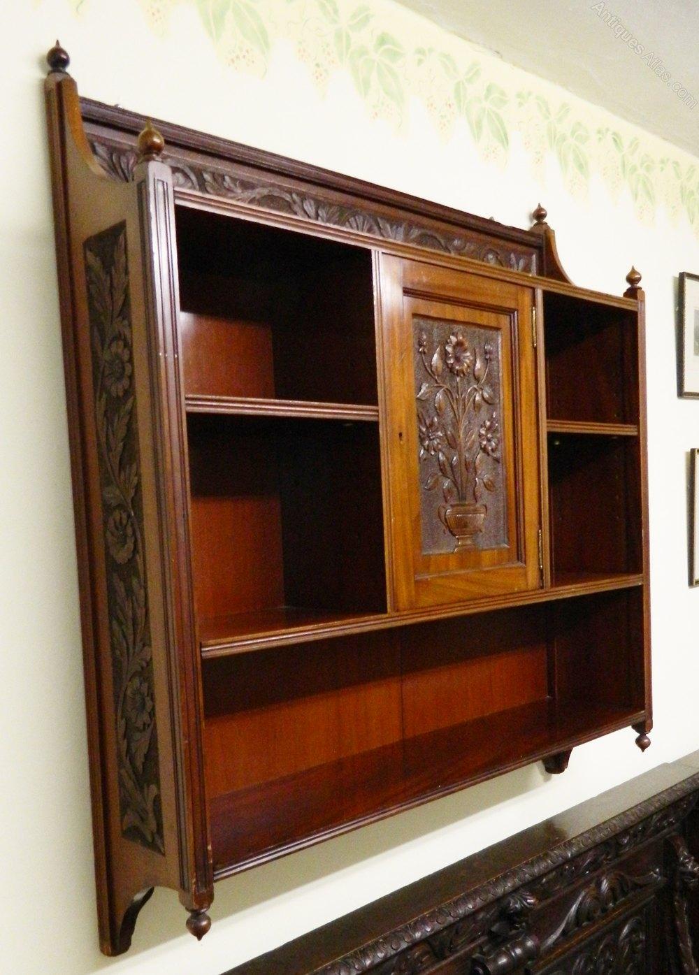 Arts And Crafts Shelves Carved Sides