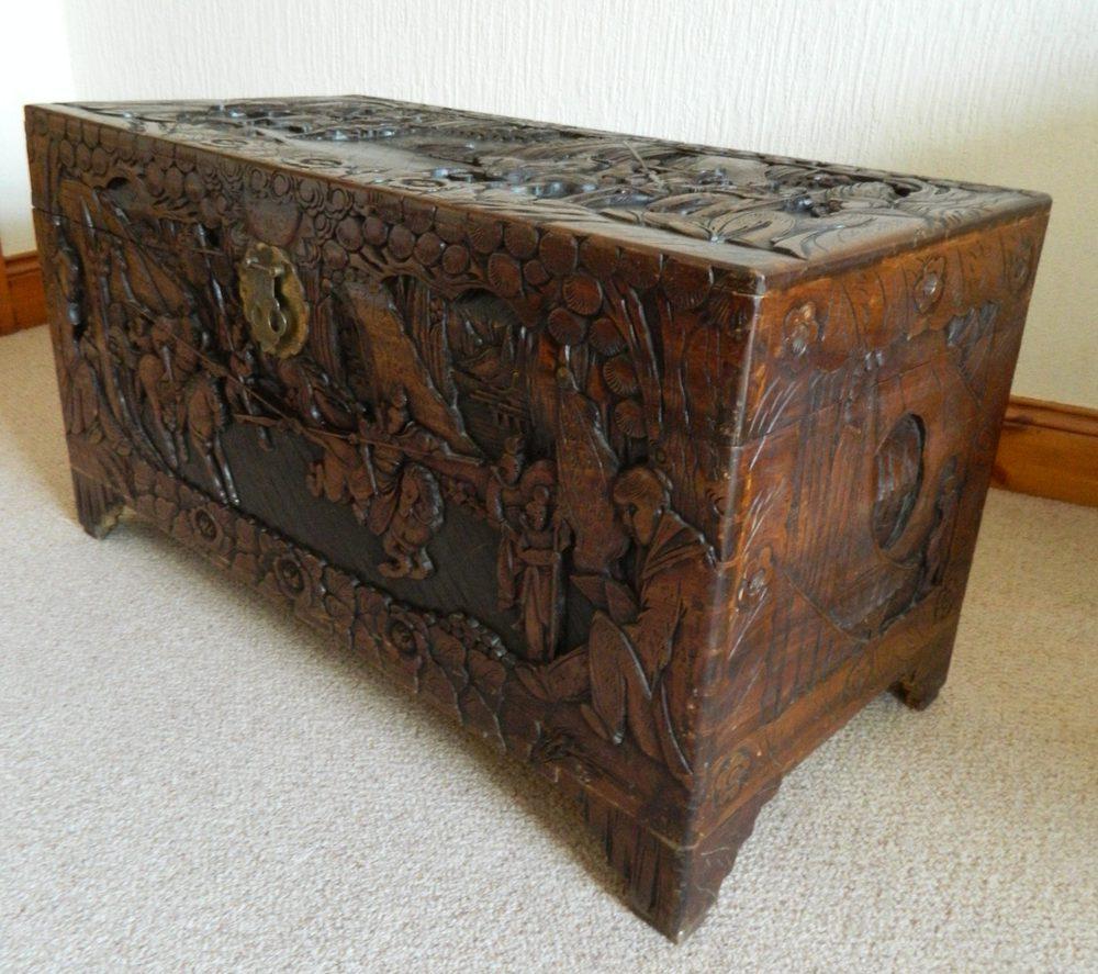 Camphor wood trunk antiques atlas