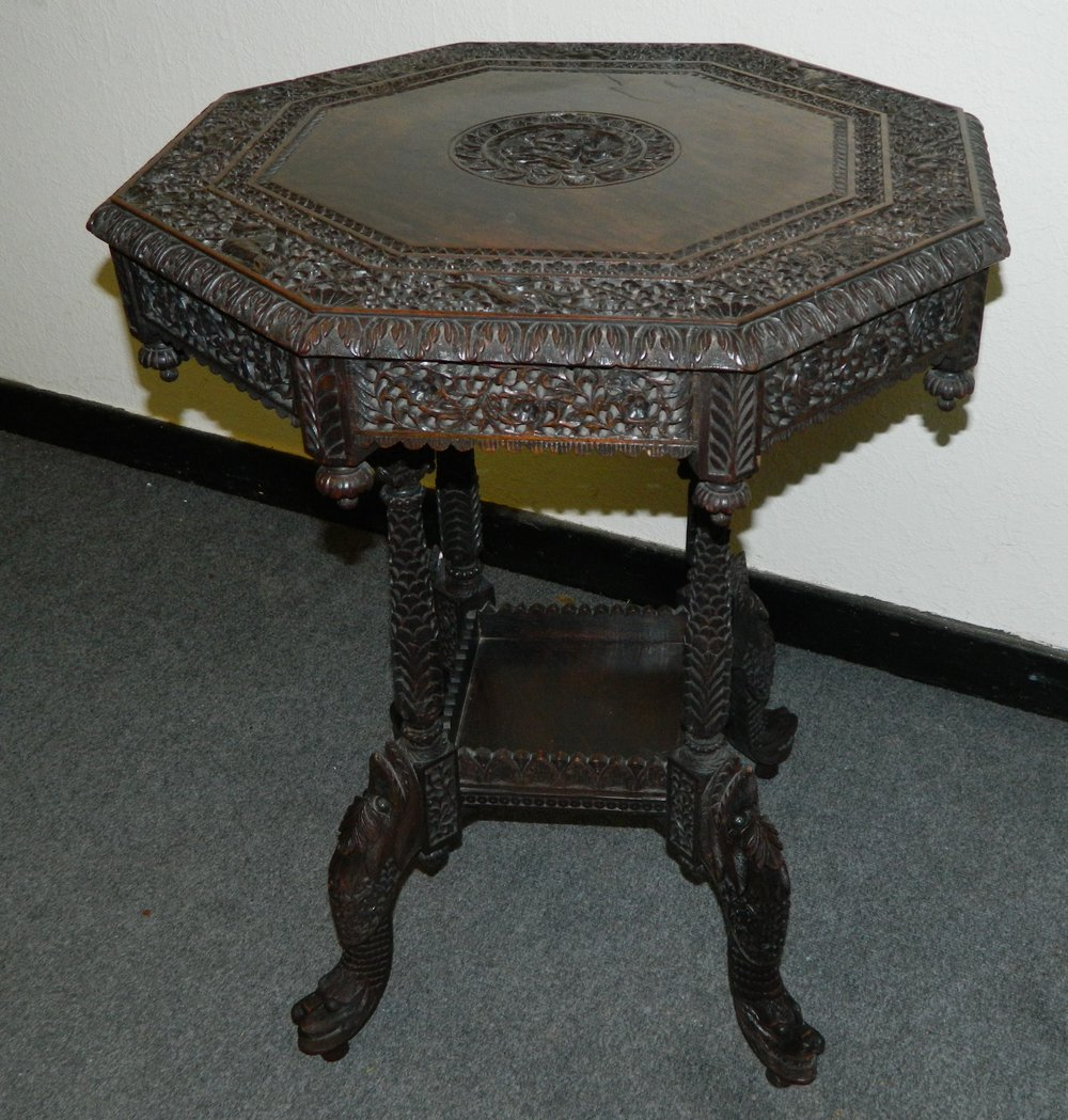 Carved anglo indian table antiques atlas