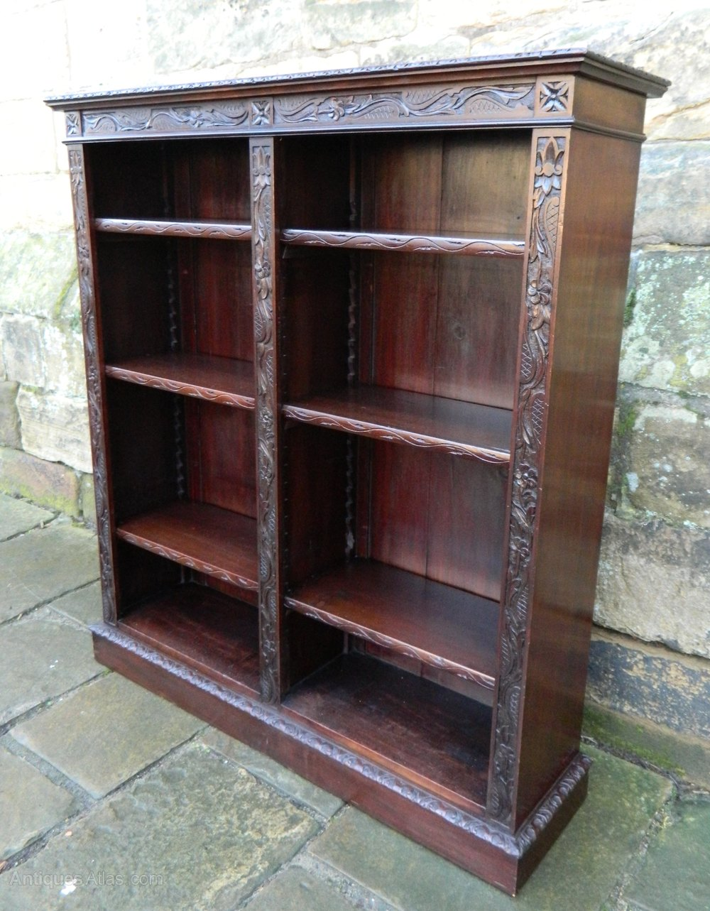 Carved Mahogany Bookcase Antiques Atlas