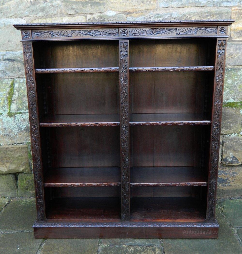 Carved Mahogany Bookcase