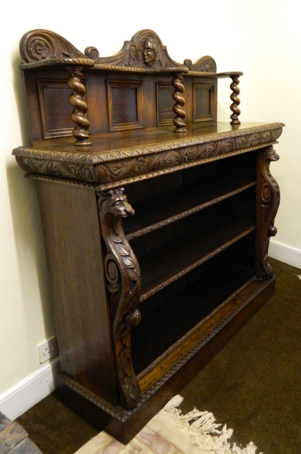 Carved Oak Bookcase Antiques Atlas