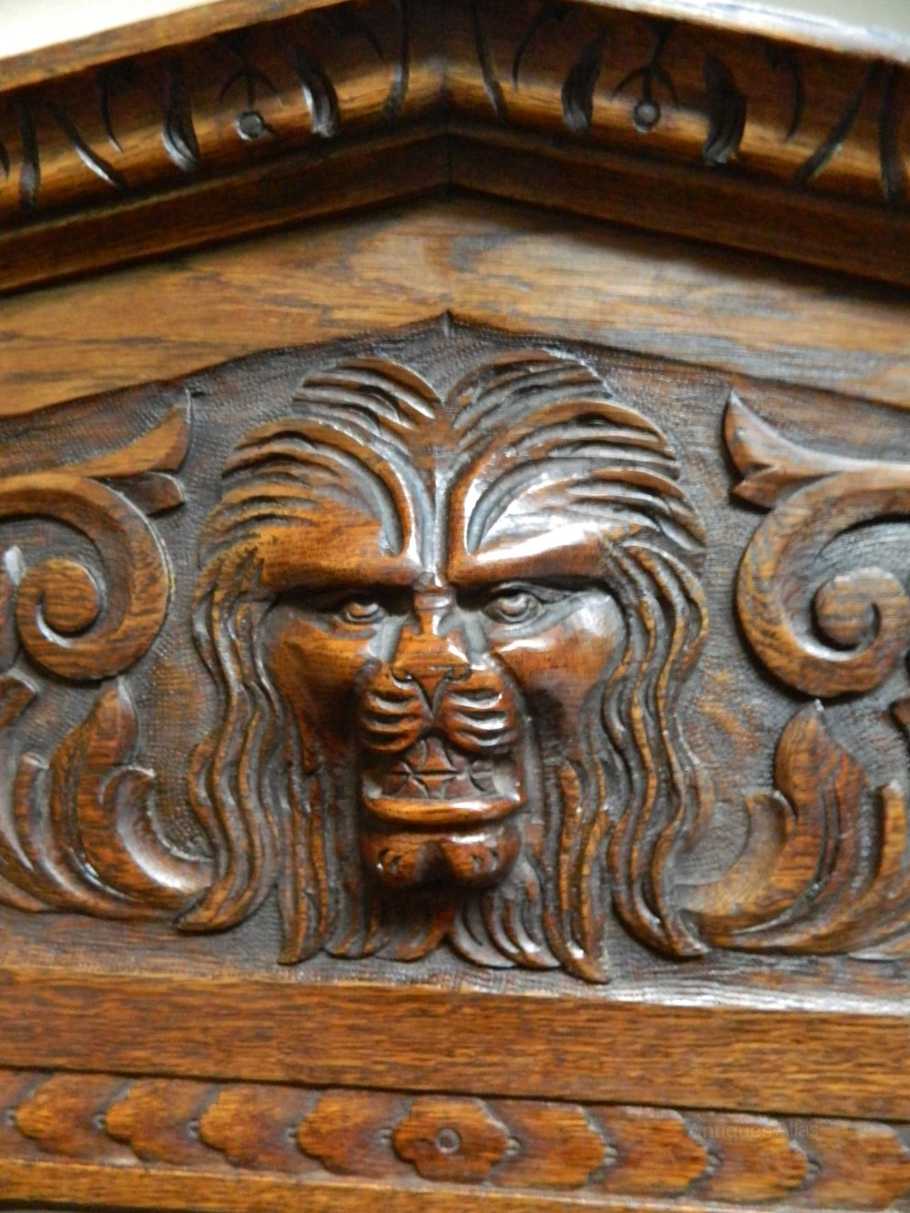 Carved Oak Green Man Hall Stand Antiques Atlas