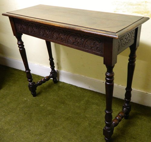 Carved Oak Hall Table Antiques Atlas
