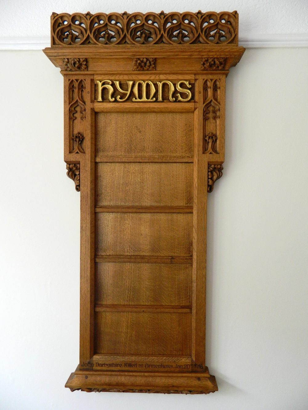 Carved Oak Hymn Board Antiques Atlas