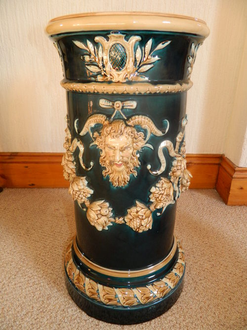 Antiques atlas decorative pottery jardiniere stand for Jardiniere decorative
