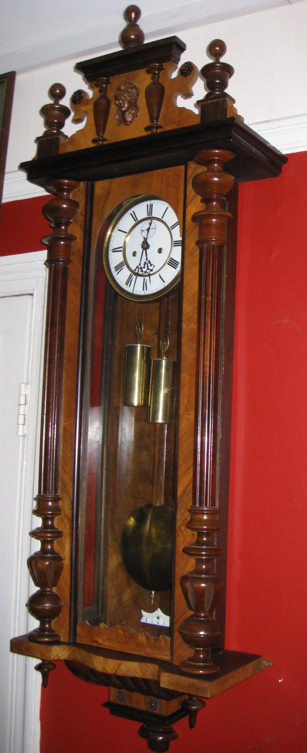 Antiques Atlas Double Weight Vienna Wall Clock