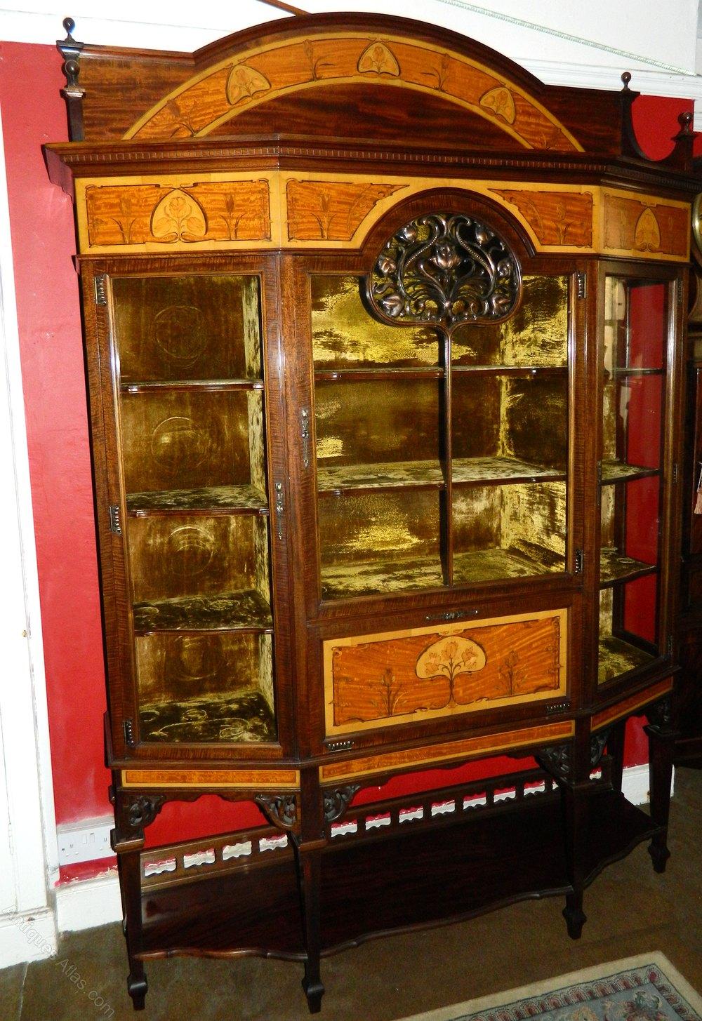Exceptional Art Nouveau Display Cabinet Antiques Atlas