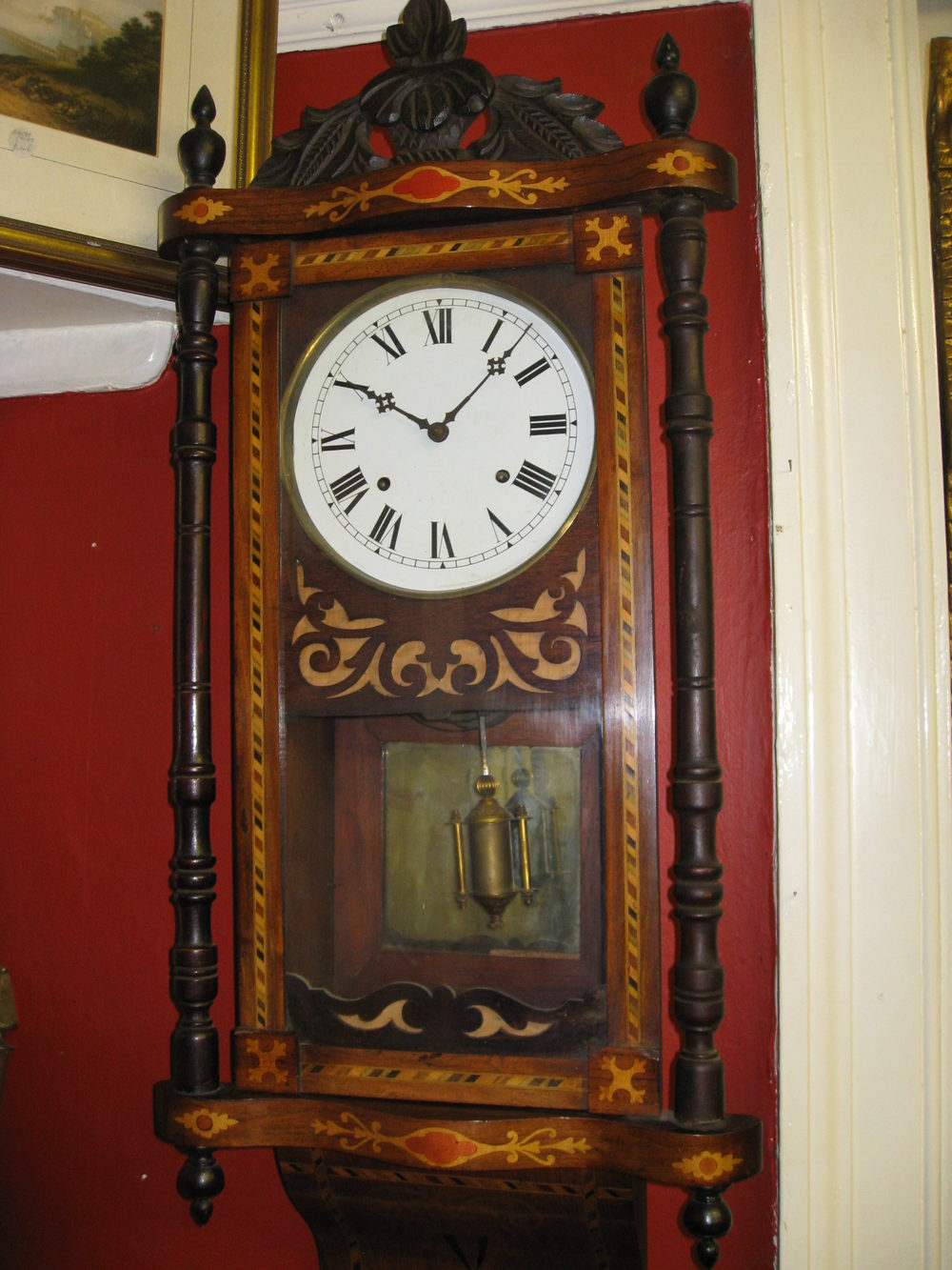 Antiques Atlas - Inlaid American Wall Clock