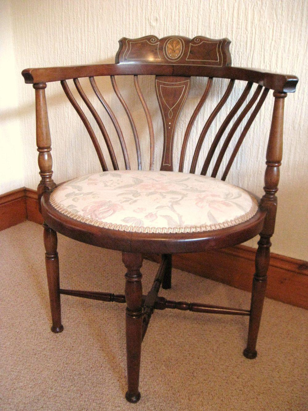 inlaid mahogany corner chair antiques atlas