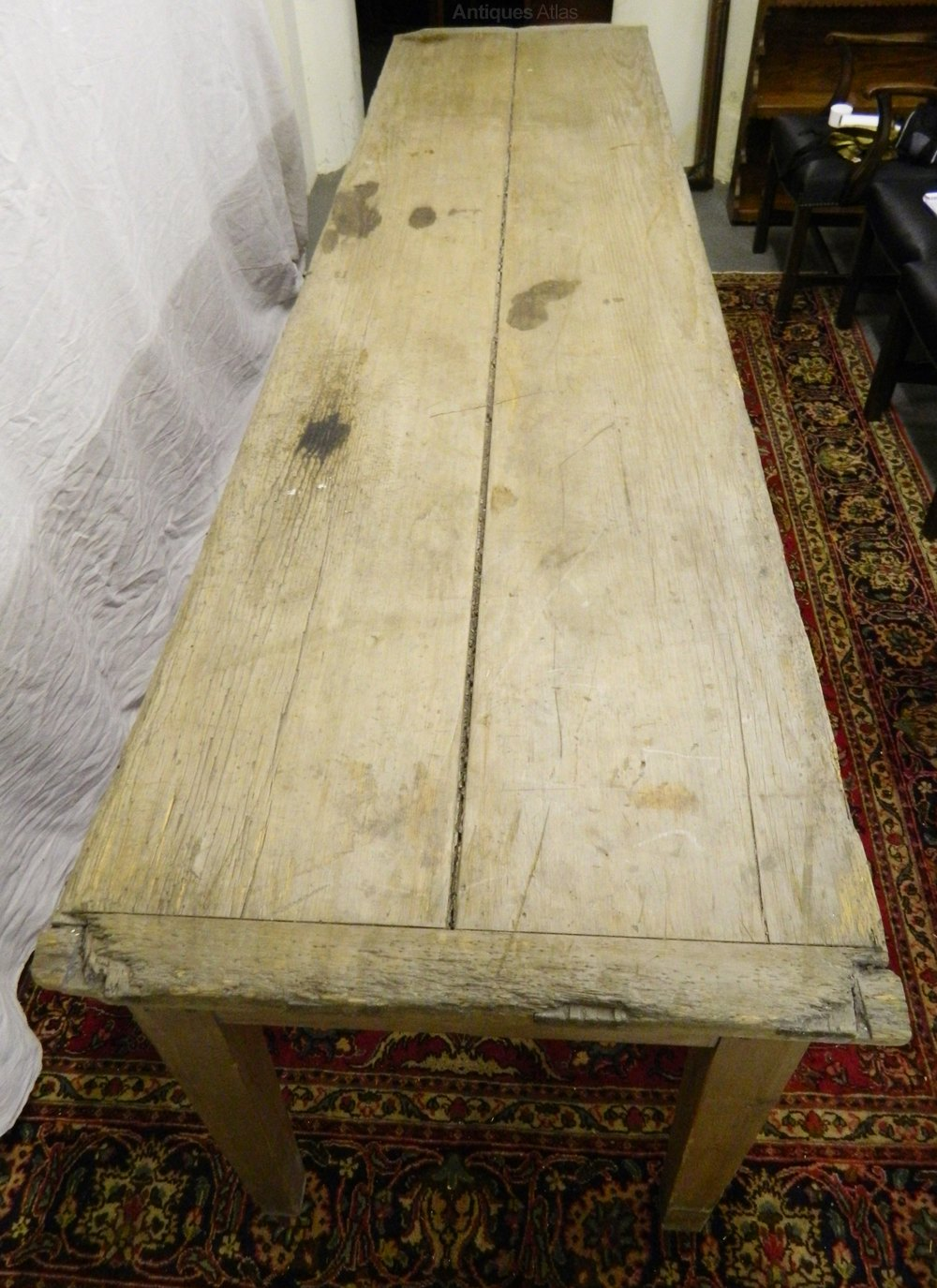Large 10 Scrubbed Pine Table Antiques Atlas