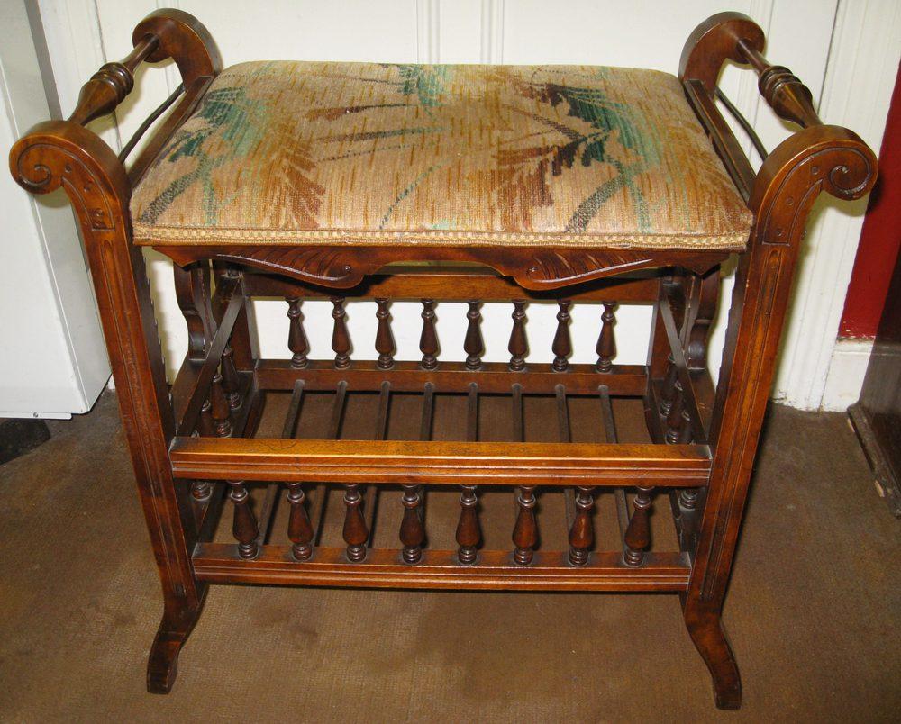 Mahogany Adjustable Piano Stool Antiques Atlas
