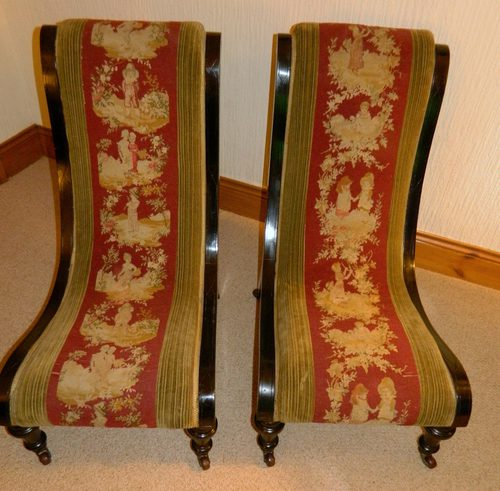- Pair Of Slipper Chairs - Antiques Atlas