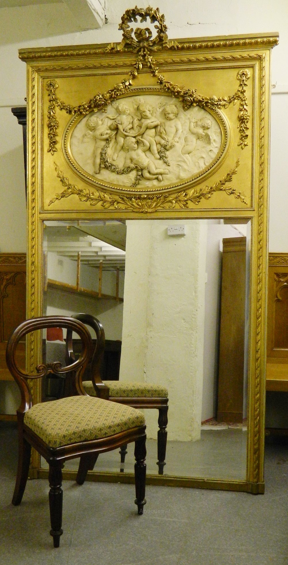 Antiques Atlas Very Large Gilt Wall Mirror