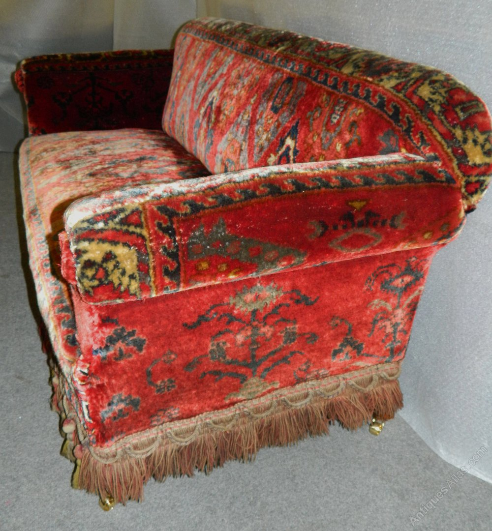 Victorian Carpet Sofa Antiques Atlas