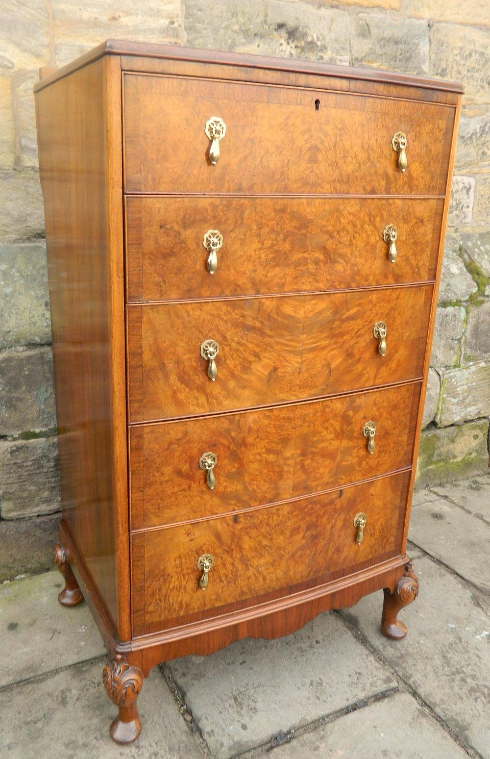 walnut tallboy chest of drawers antiques atlas. Black Bedroom Furniture Sets. Home Design Ideas