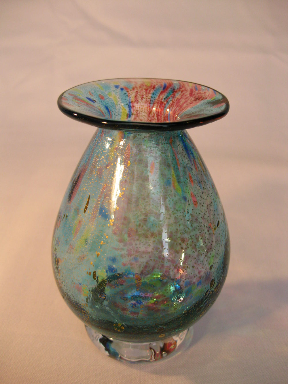 Antiques Atlas Angela Henderson Studio Art Glass Vases X2
