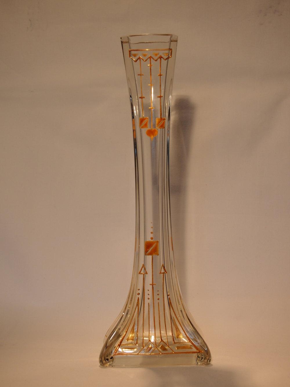 antiques atlas art deco vase applied orange decoration 32cm. Black Bedroom Furniture Sets. Home Design Ideas