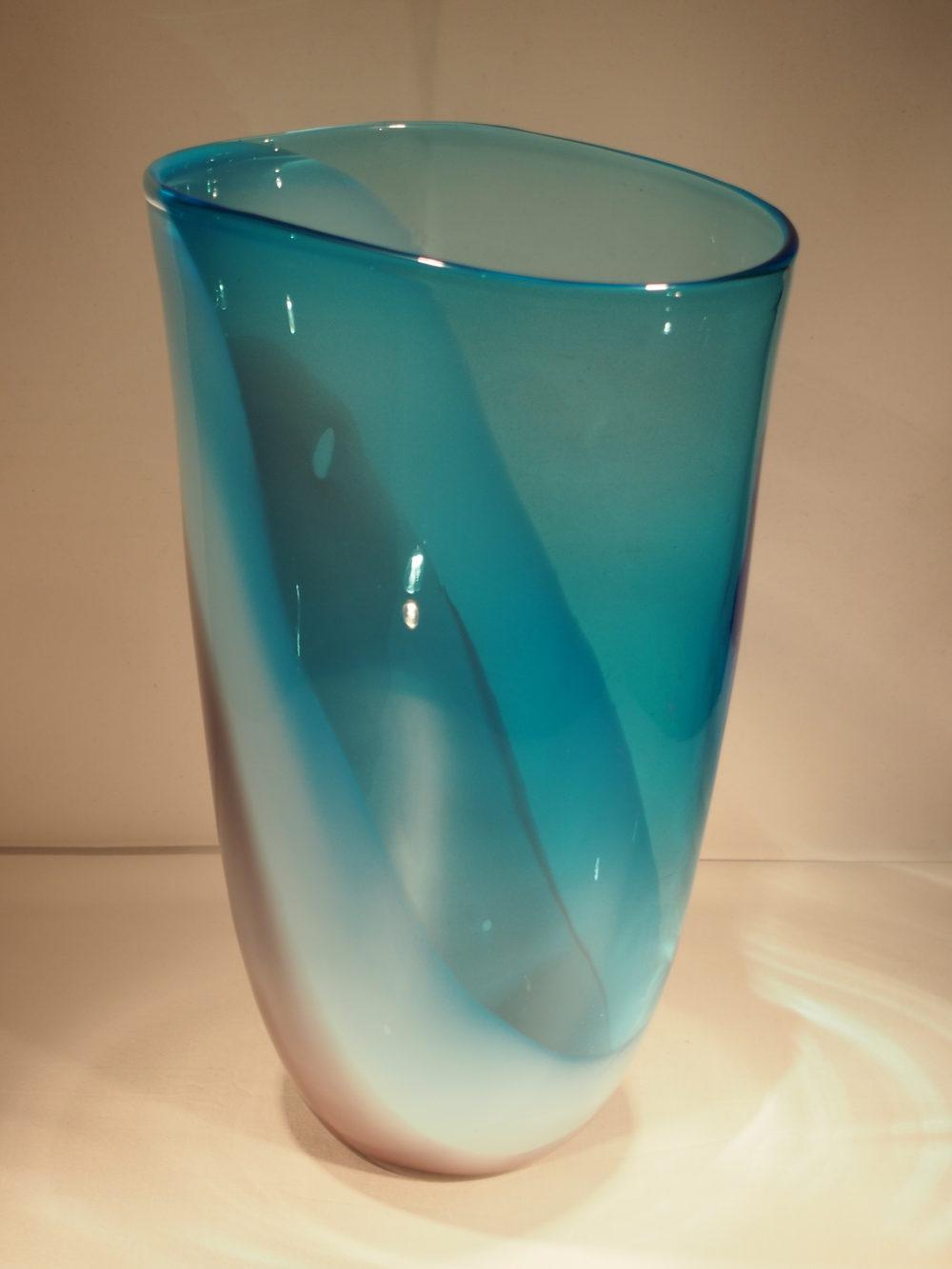 Vintage Milk Glass Flower Vase E.O. Brody White