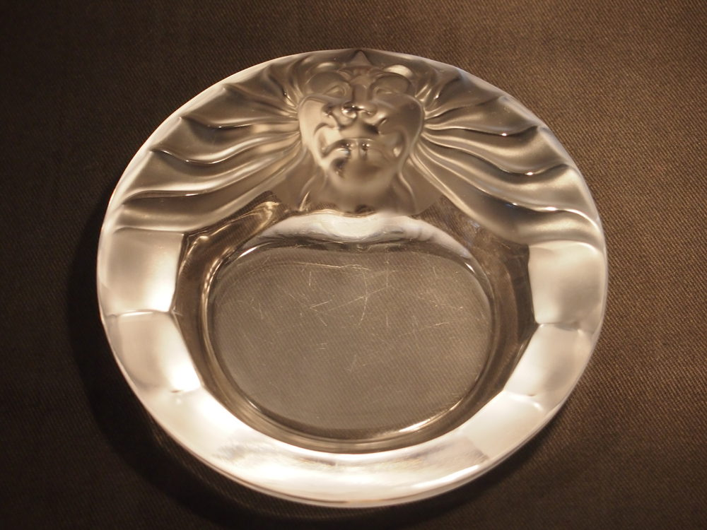 antiques atlas lalique tete de lion small dish. Black Bedroom Furniture Sets. Home Design Ideas