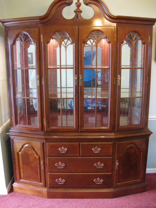 Antiques Atlas - Mahogany Display Cabinet & Chest