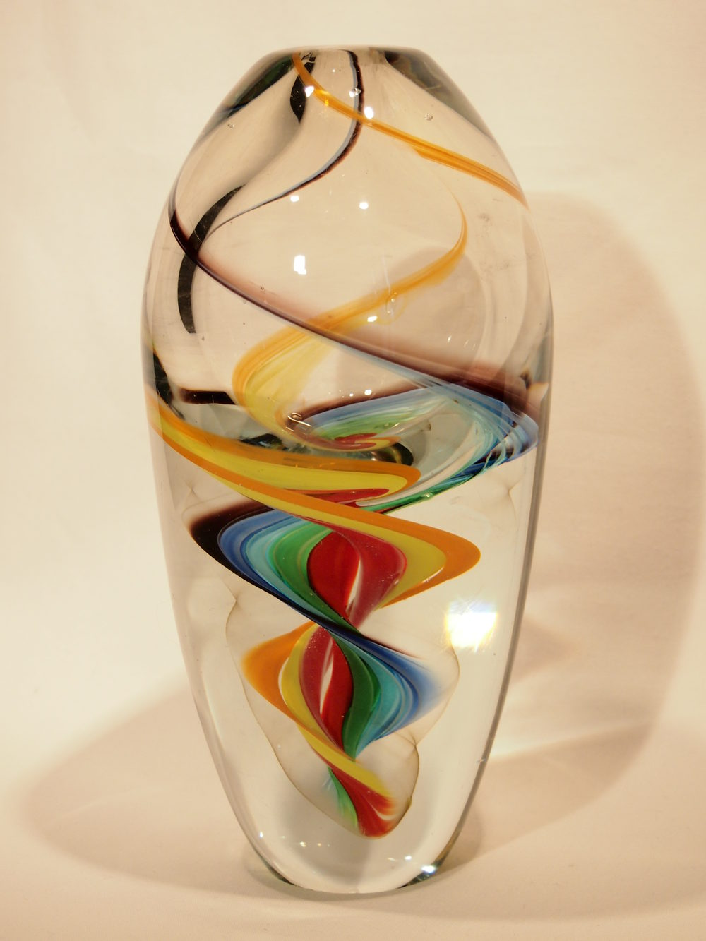 Antiques Atlas Murano Art Glass Vase Multi Colour Swirl