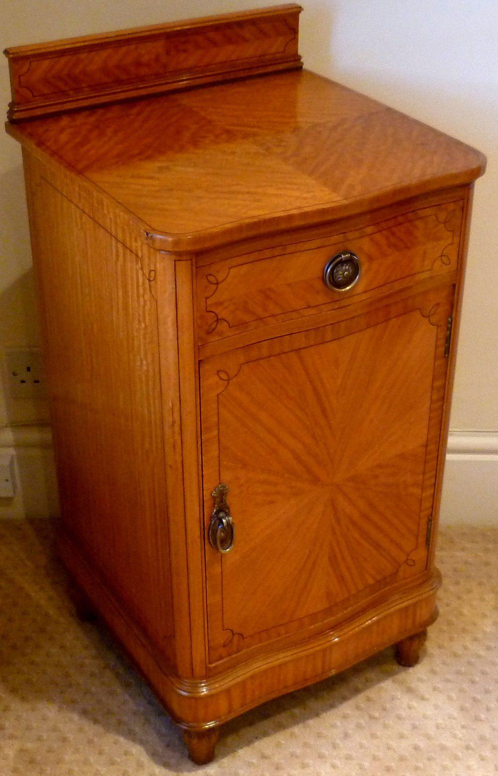 victorian satinwood ten piece bedroom suite of exceptional colour
