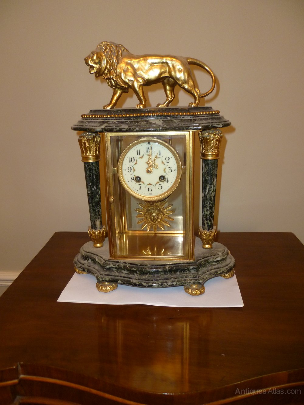 Antiques Atlas French 4 Glass Mantle Clock