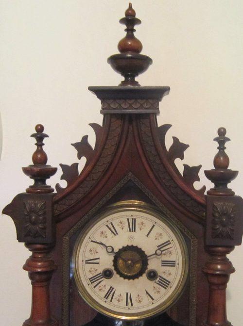 Antiques Atlas - Late Victorian Junghans Gothic Mantle Clock