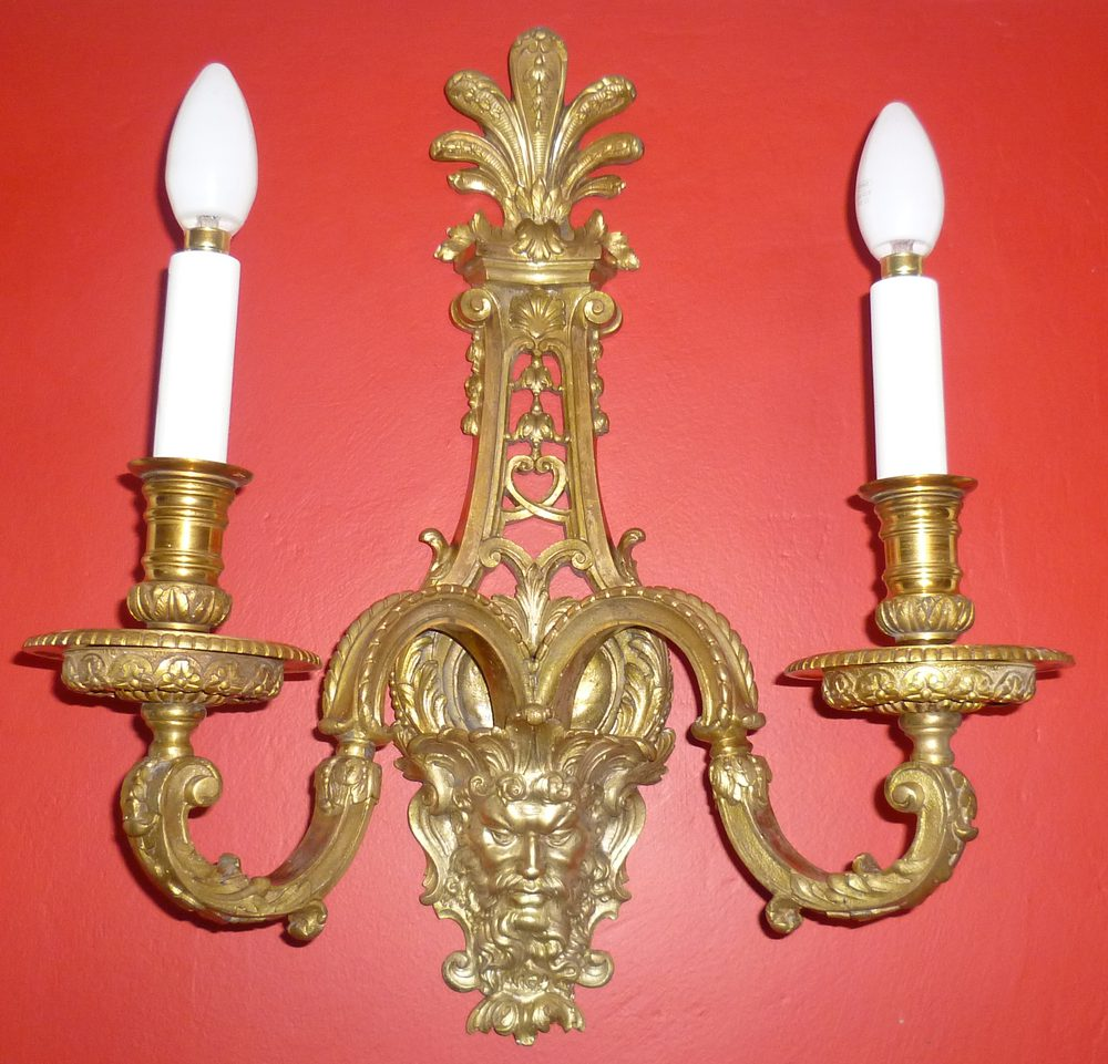 Antiques Atlas - Stunning 19th Century Gilt Bronze Wall Light