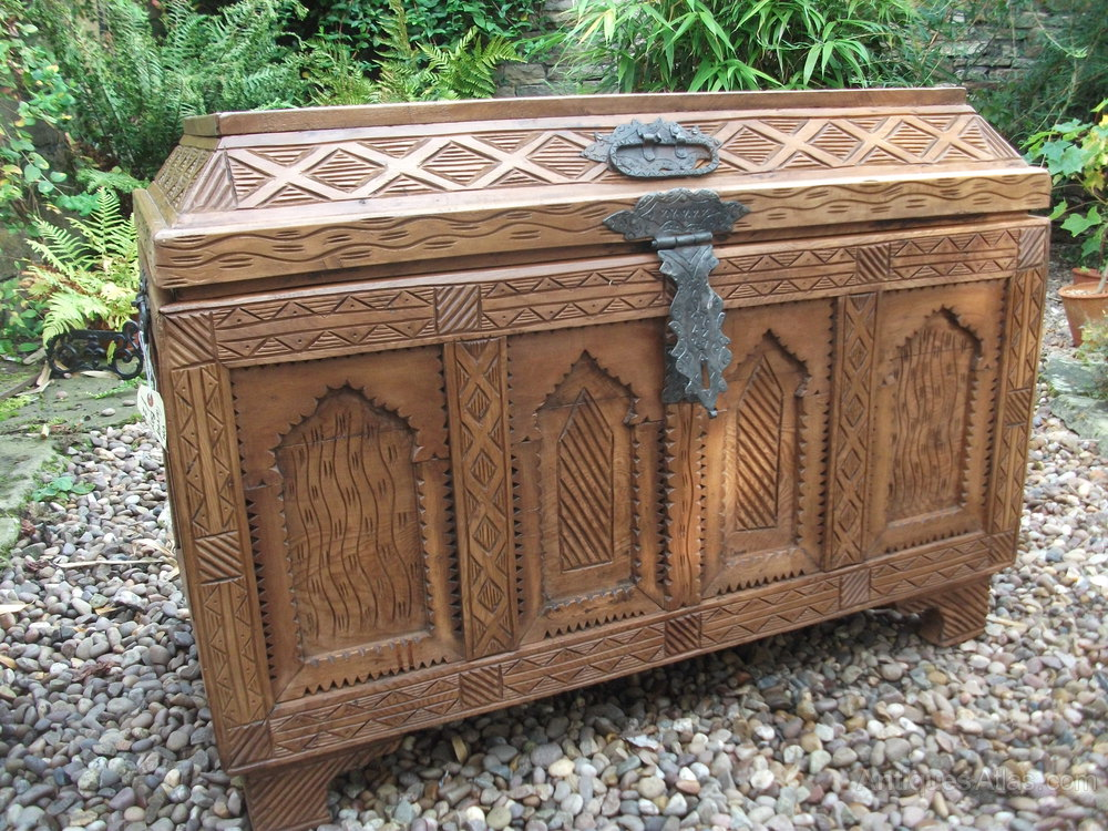 S carved blanket box antiques atlas