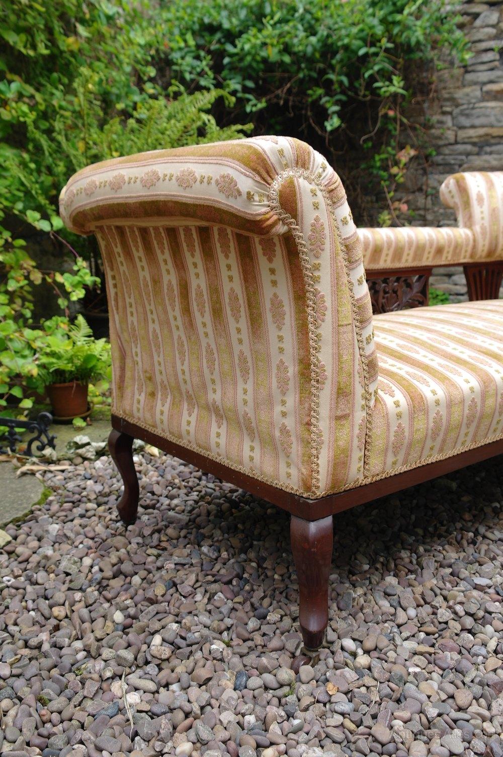 Edwardian drop arm walnut chaise lounge antiques atlas for Chaise lounge antique sale