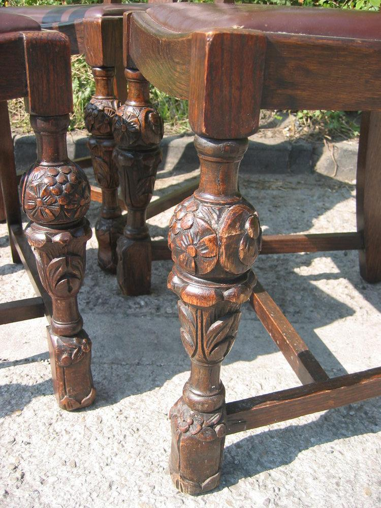 Four carved oak chairs antiques atlas