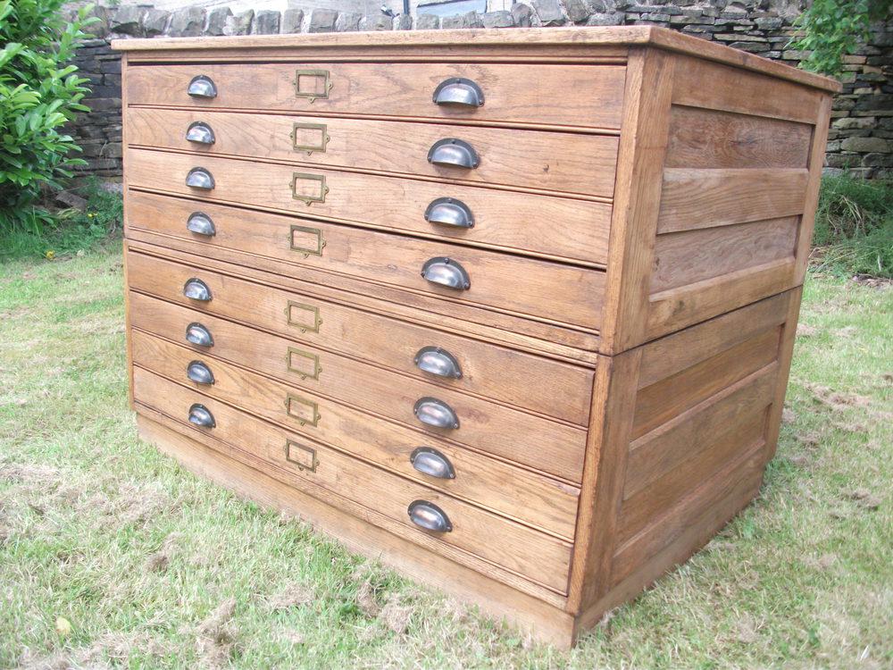 Oak architects plan chest antiques atlas