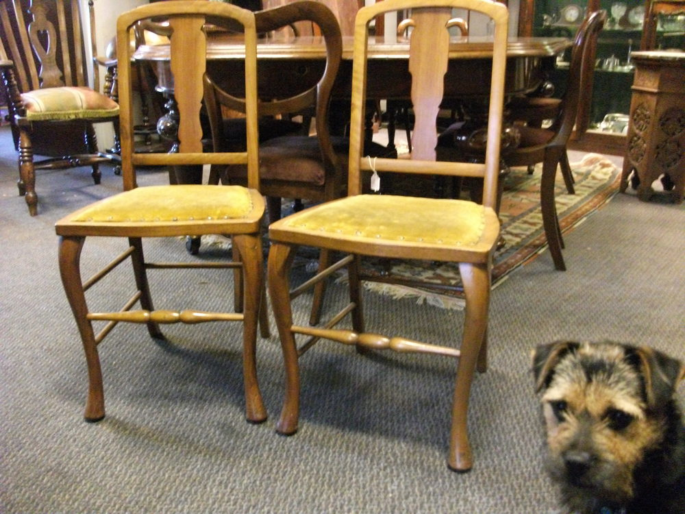 Pair Edwardian Bedroom Chairs Antiques Atlas