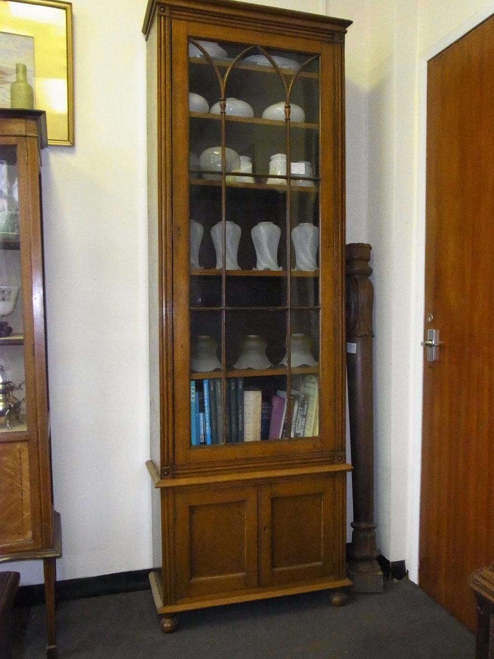 Tall Narrow Oak Bookcase - Antiques Atlas