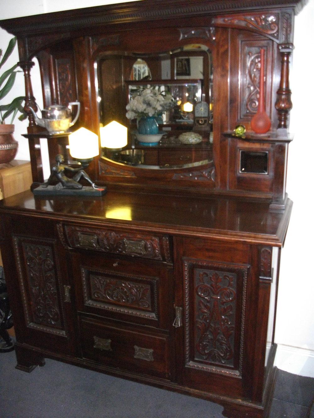 Walnut Edwardian Carved Sideboard Antiques Atlas