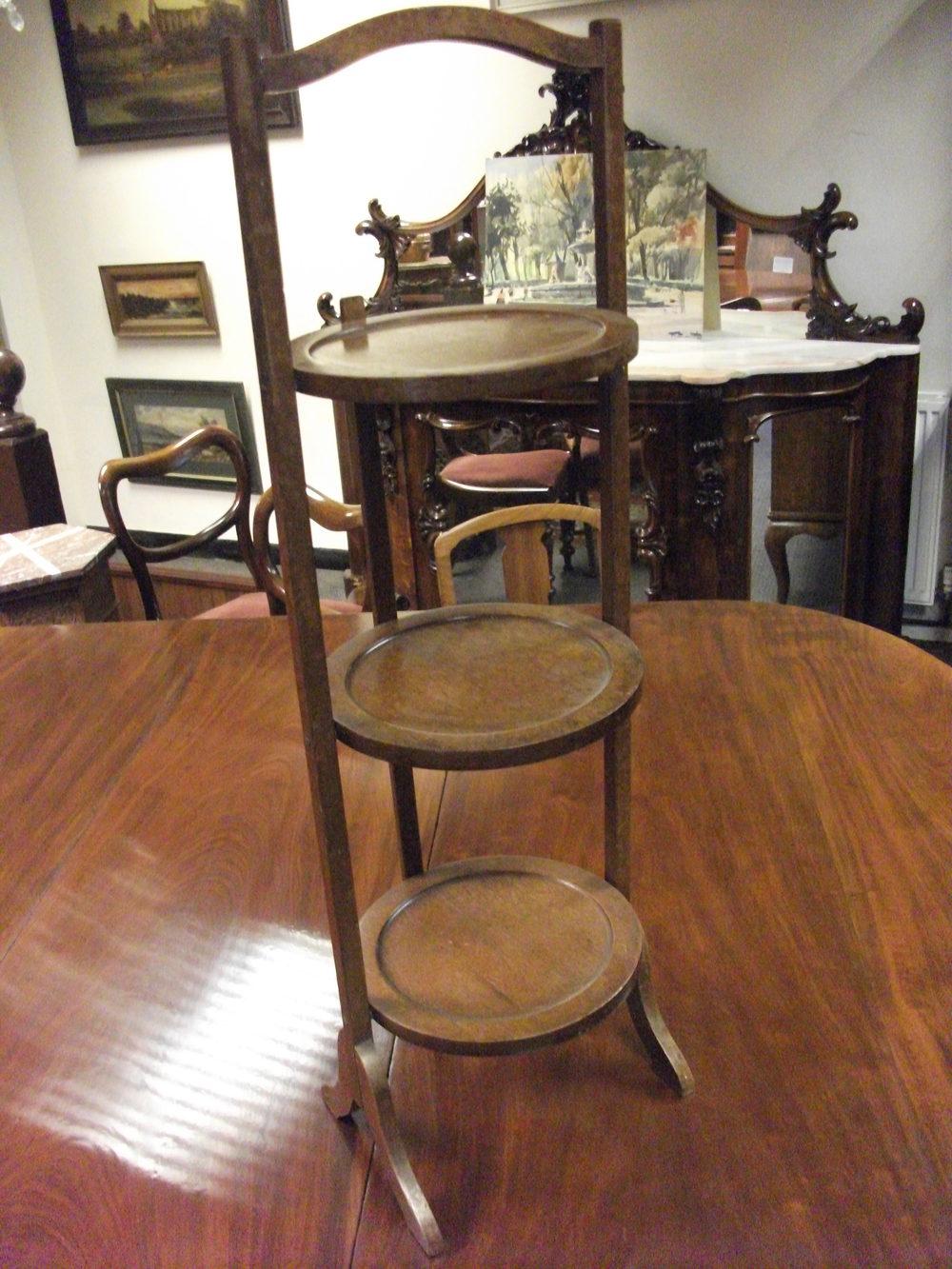 Mahogany Folding Cake Stand Antiques Atlas