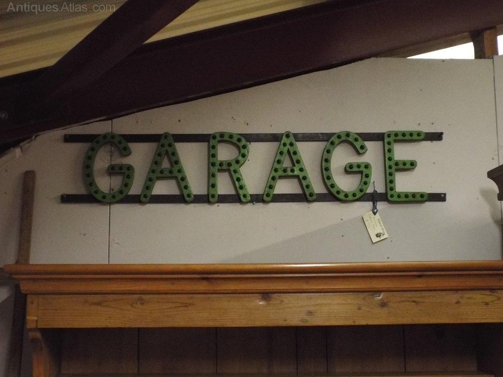 Antiques Atlas Vintage Garage Sign