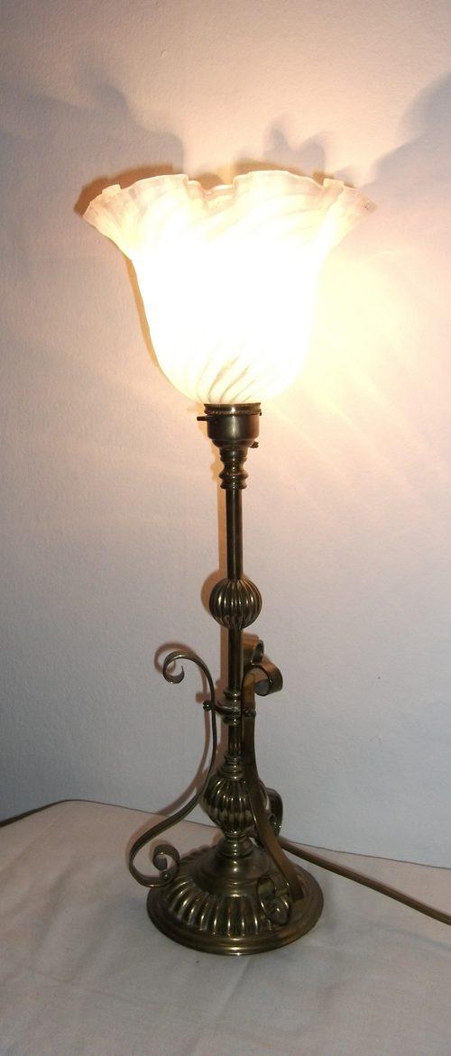 Antique Lamp Vintage Table Co : Antiques atlas antique brass table lamp