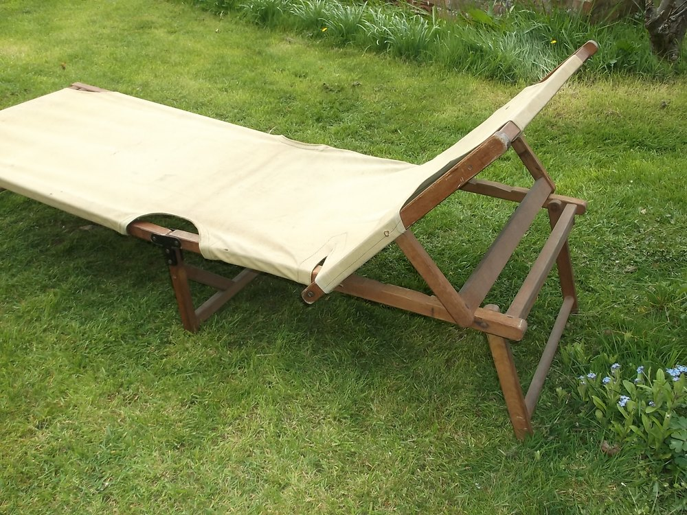 vintage campaign wood bed prices