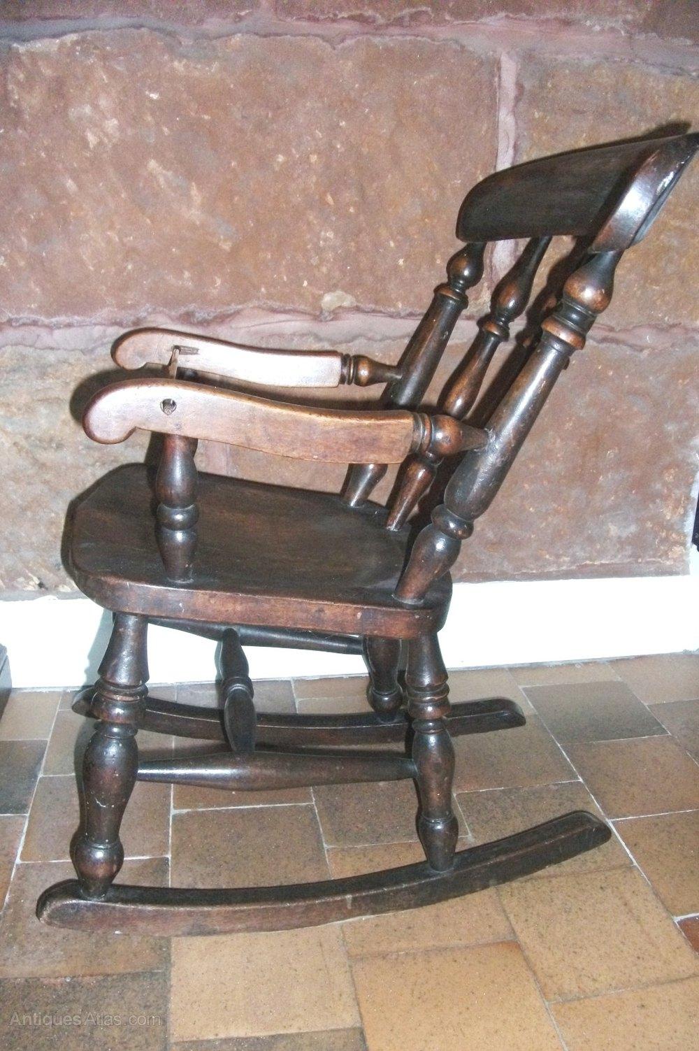 Antique Childs Windsor Rocking Chair Antiques Atlas