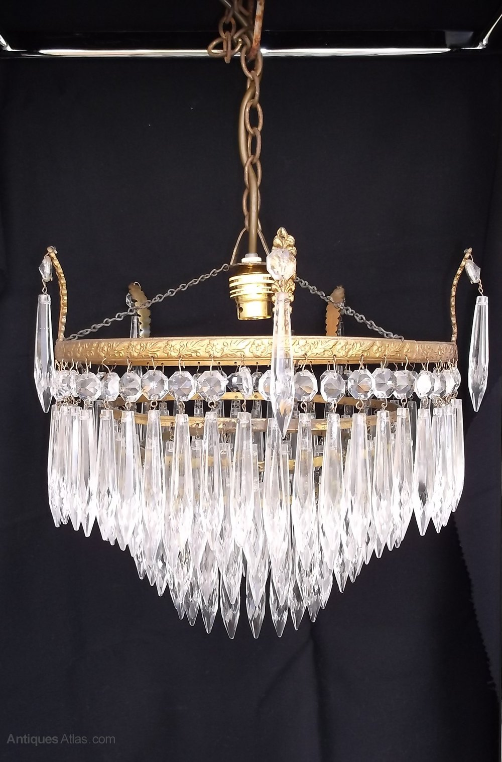 Antiques Atlas Antique 4 Tier Waterfall Crystal Chandelier