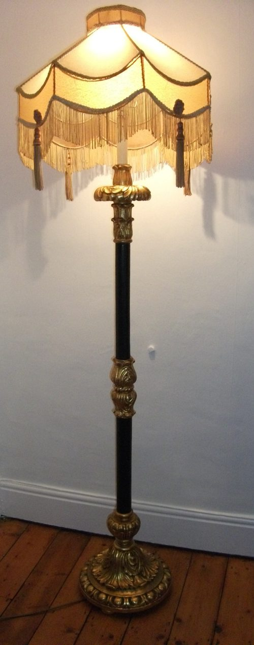 Antiques Atlas Antique Gilt Ebonised Standard Lamp