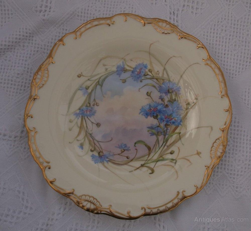 Antiques Atlas Antique Hand Painted Mintons Cabinet Plate